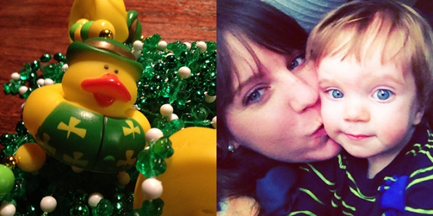 St. Patty's Day bling. QUACK. | All my selfies include Charlie